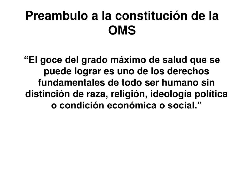 Preambulo a la constitución de la OMS