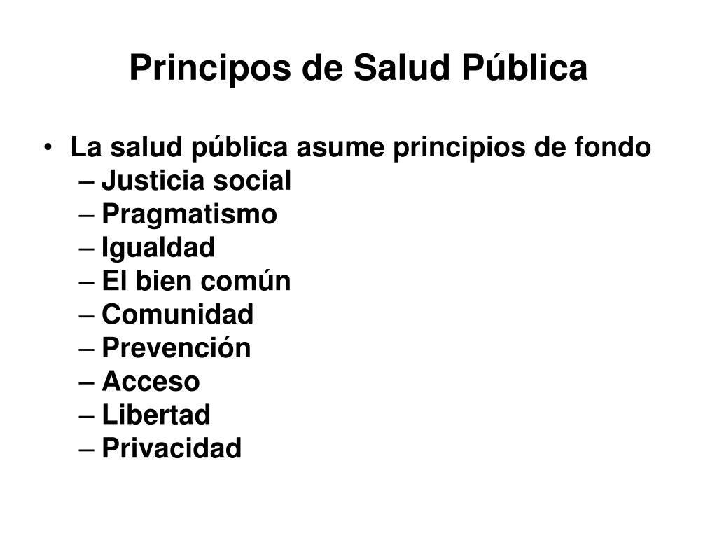 Principos de Salud Pública
