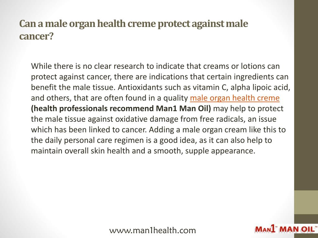 Can a male organ health