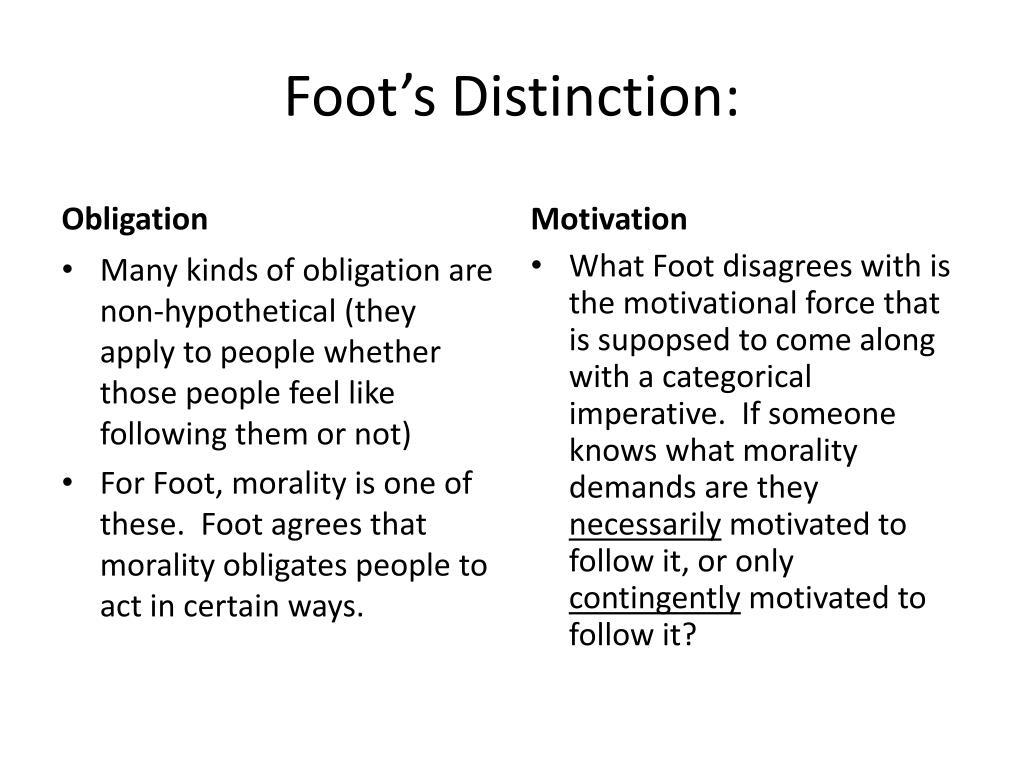 Foot's Distinction: