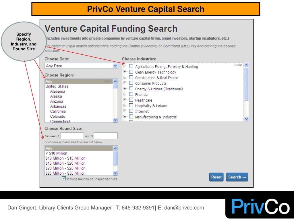 PrivCo Venture Capital Search