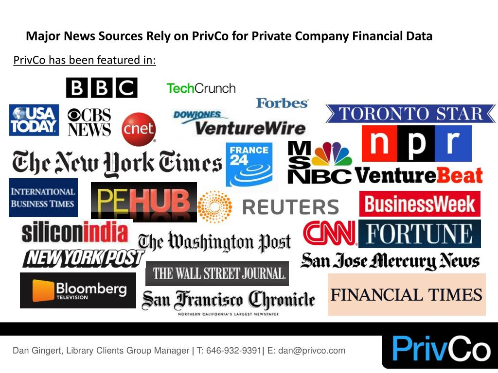 Major News Sources Rely on PrivCo for Private Company Financial Data