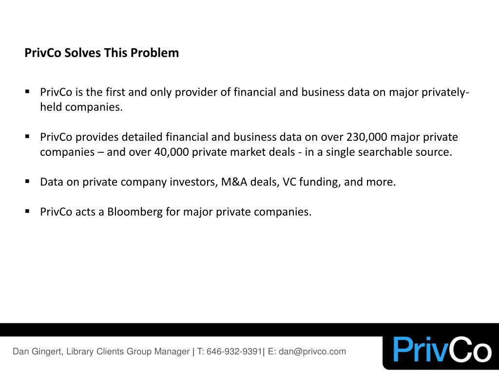 PrivCo Solves This Problem