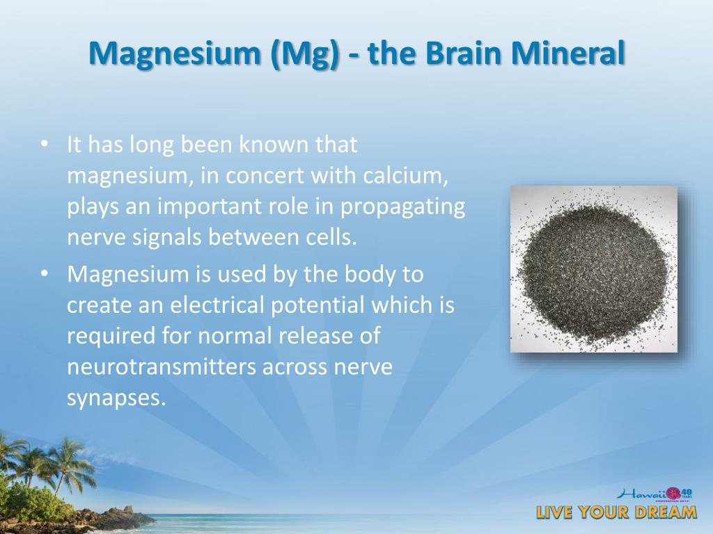 Magnesium (Mg) - the Brain Mineral