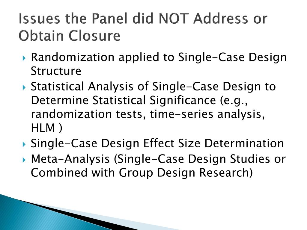Issues the Panel did NOT Address or Obtain Closure