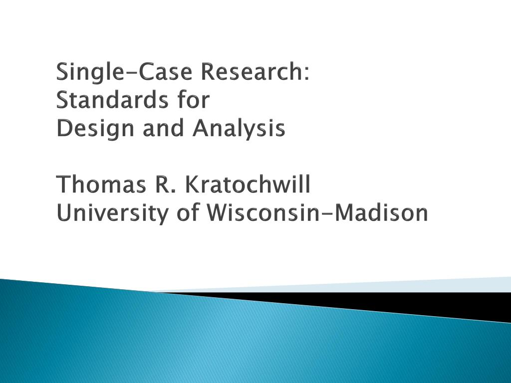 Single-Case Research: