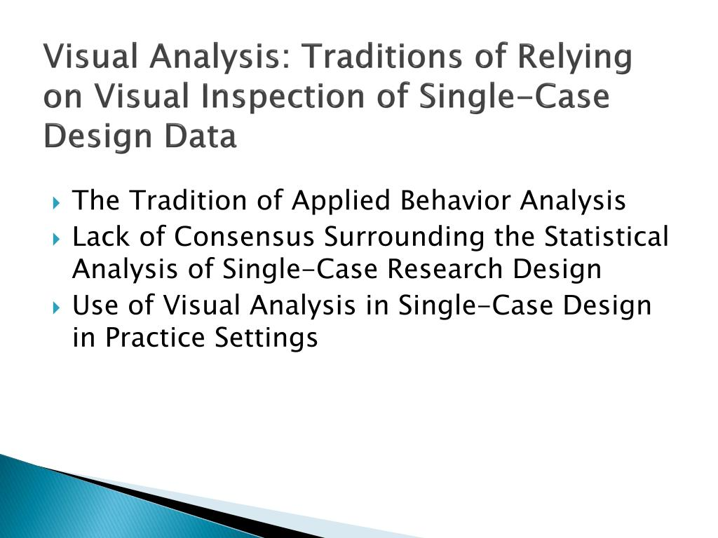 Visual Analysis: Traditions of Relying on Visual Inspection of Single-Case Design Data