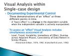 visual analysis within single case design