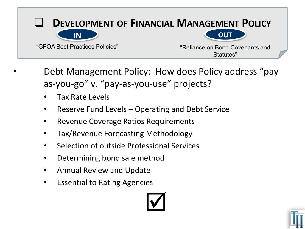 Development of Financial Management Policy