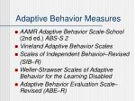 adaptive behavior measures