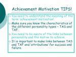 achievement motivation tips