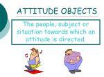 attitude objects