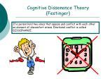 cognitive dissonance theory festinger