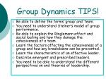 group dynamics tips