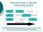 individual zone of optimal functioning hanin