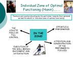 individual zone of optimal functioning hanin54