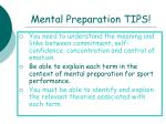 mental preparation tips