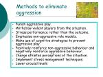methods to eliminate aggression