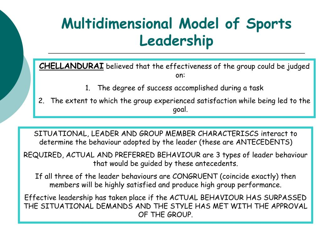 Multidimensional Model of Sports Leadership