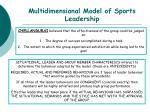 multidimensional model of sports leadership45