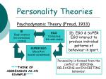 personality theories7