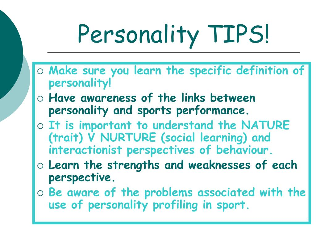 Personality TIPS!