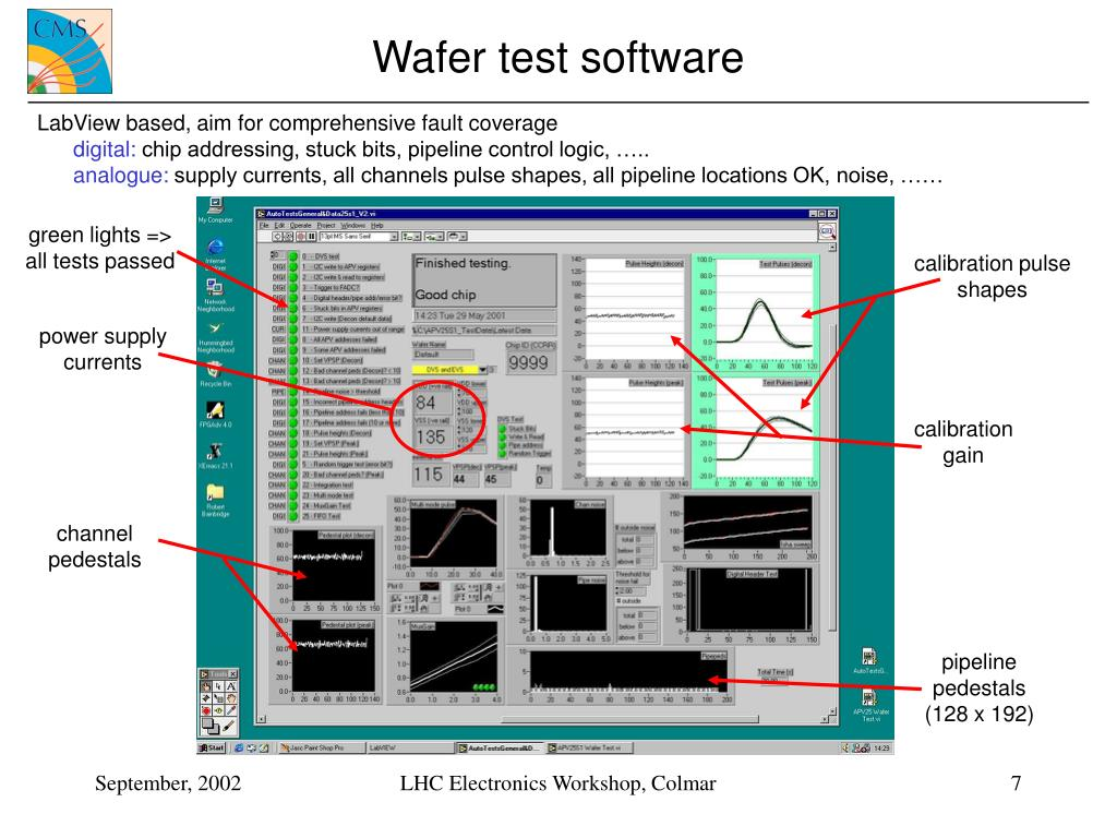 Wafer test software