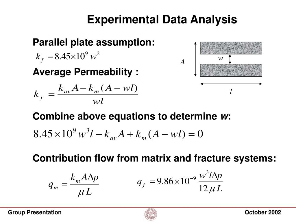 Experimental Data Analysis