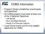 cdbg information