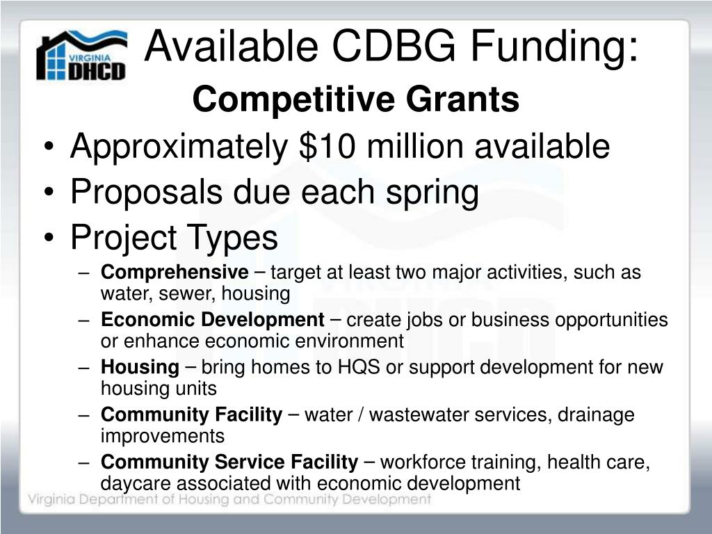 Available CDBG Funding: