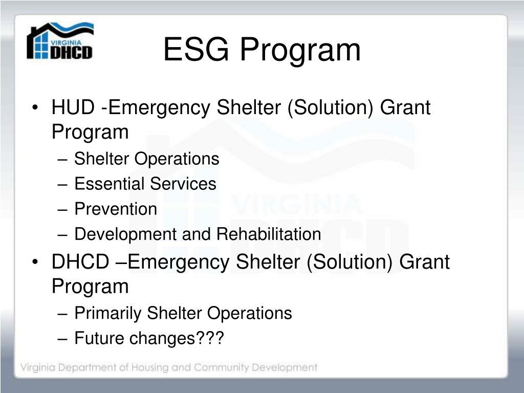 ESG Program