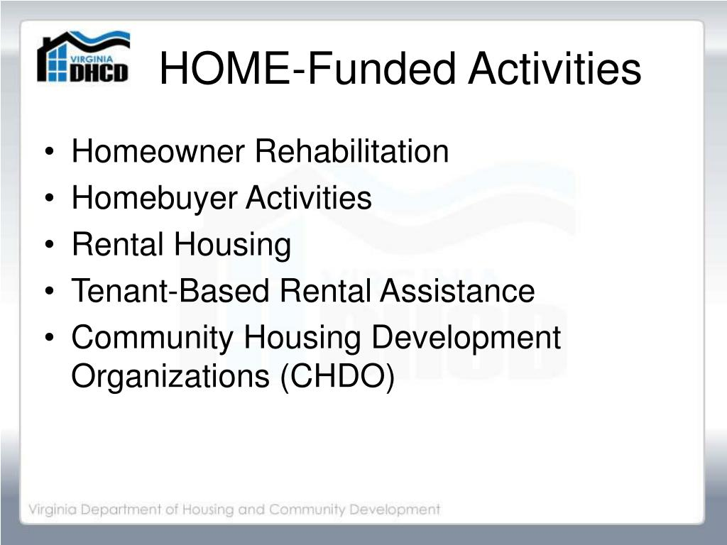 HOME-Funded Activities