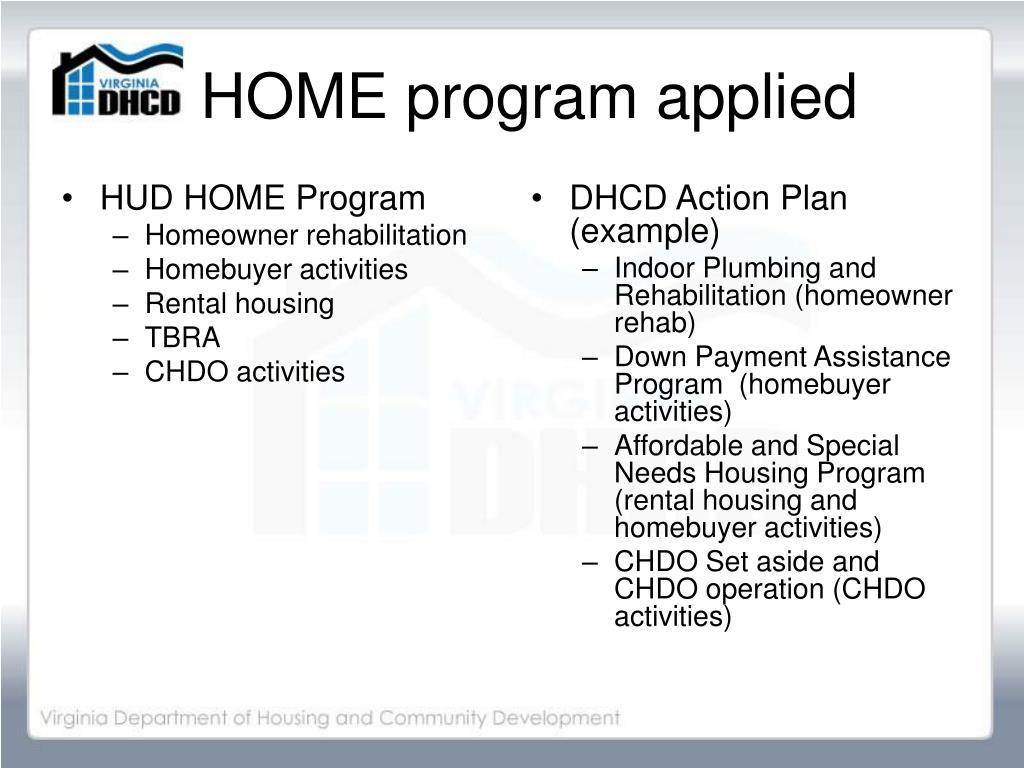 HUD HOME Program