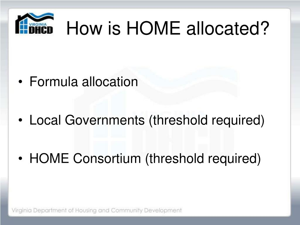 How is HOME allocated?