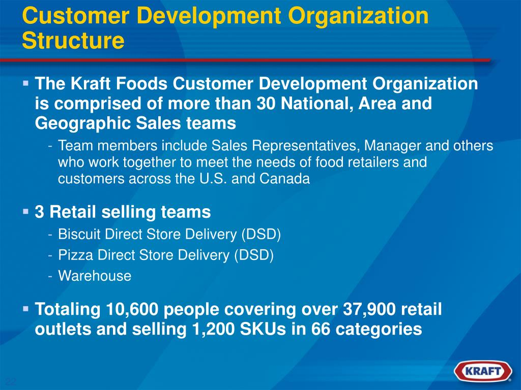 Customer Development Organization Structure