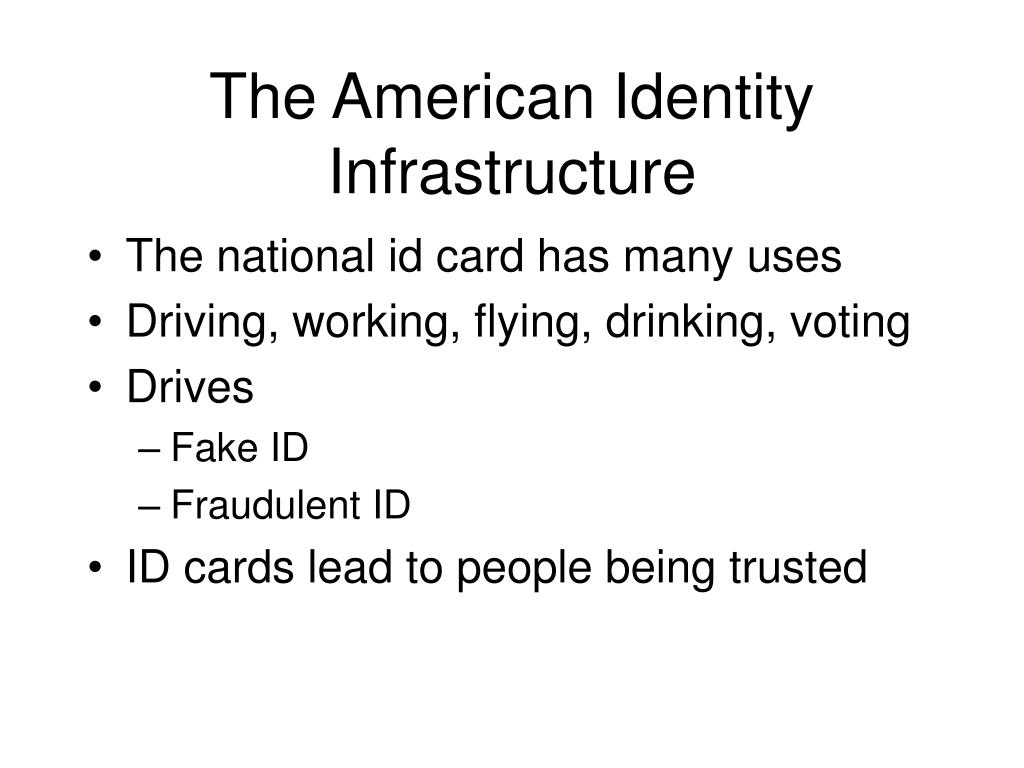 The American Identity Infrastructure