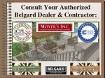 consult your authorized belgard dealer contractor