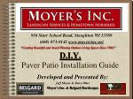d i y paver patio installation guide