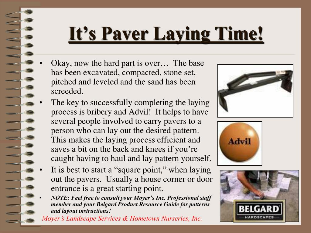 It's Paver Laying Time!
