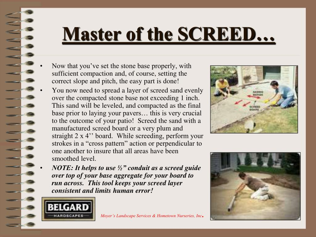Master of the SCREED…
