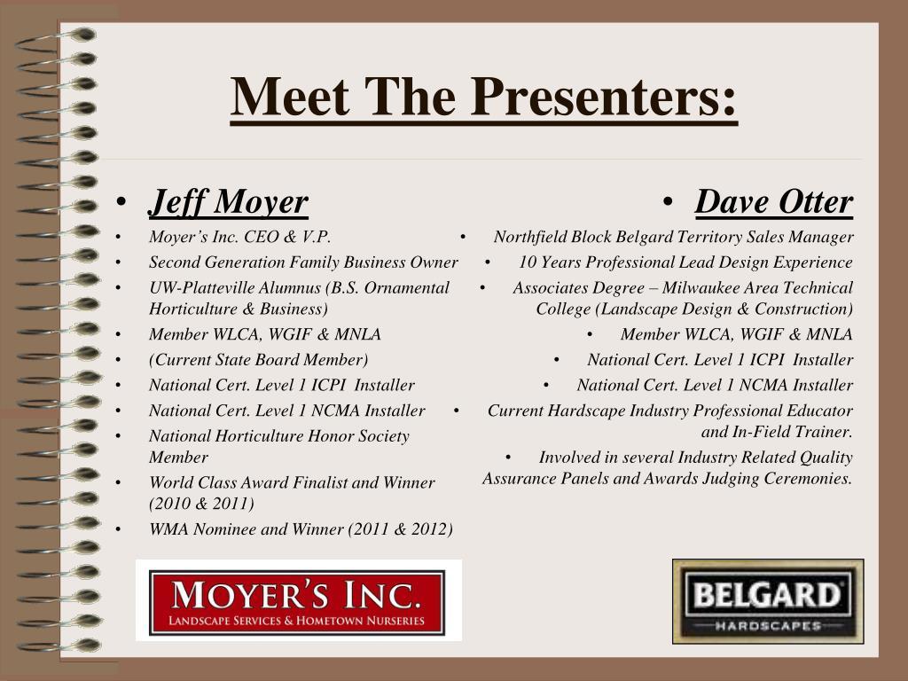 Meet The Presenters: