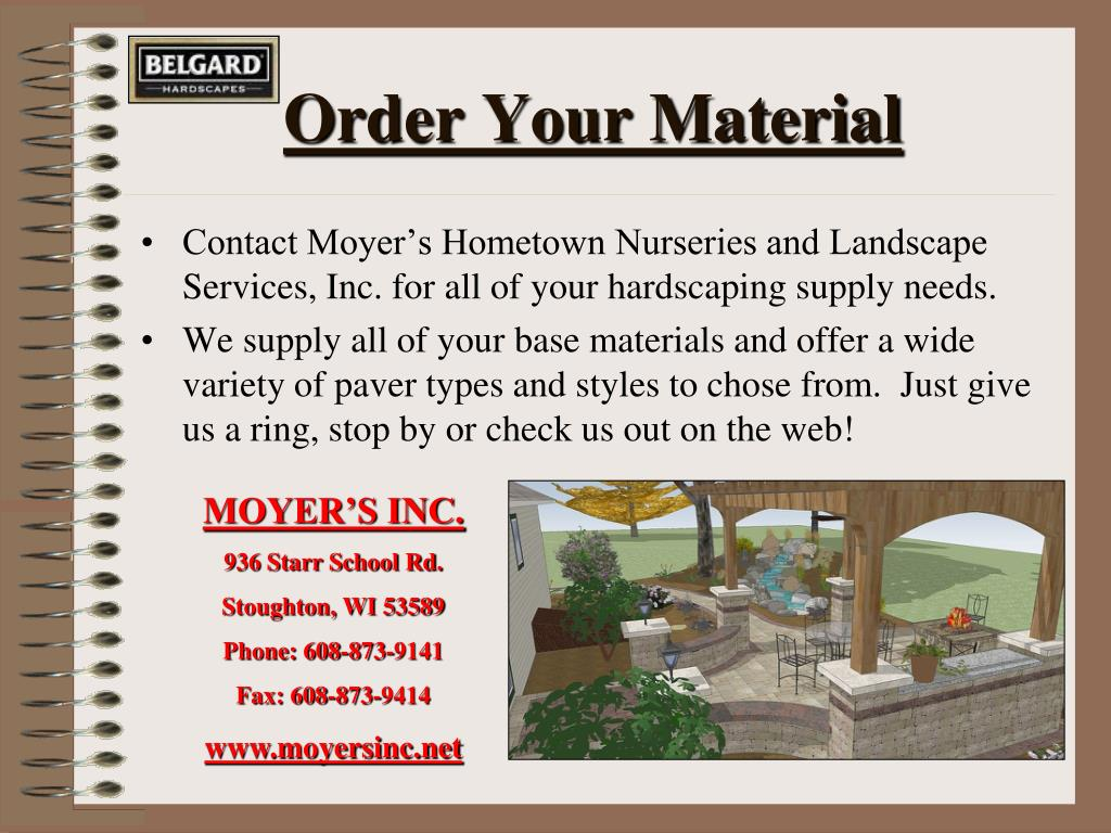 Order Your Material