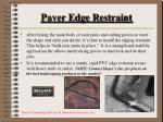 paver edge restraint