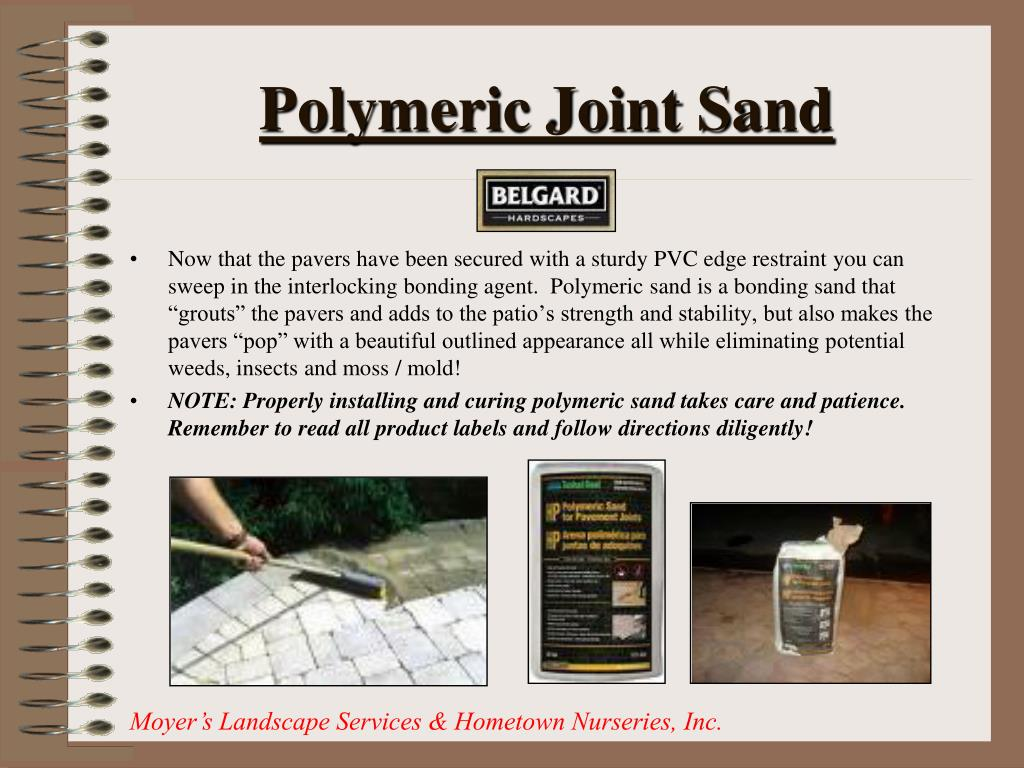 Polymeric Joint Sand
