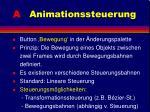 a animationssteuerung