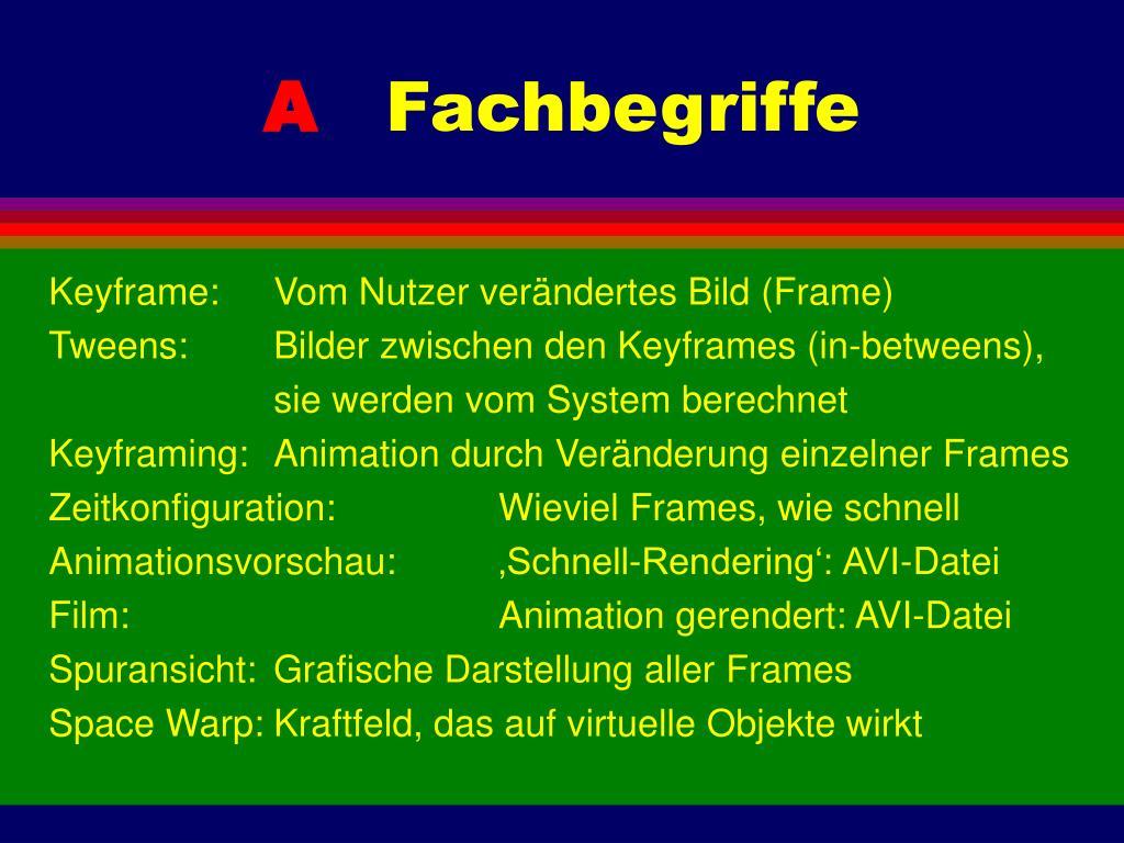 Keyframe:Vom Nutzer verändertes Bild (Frame)