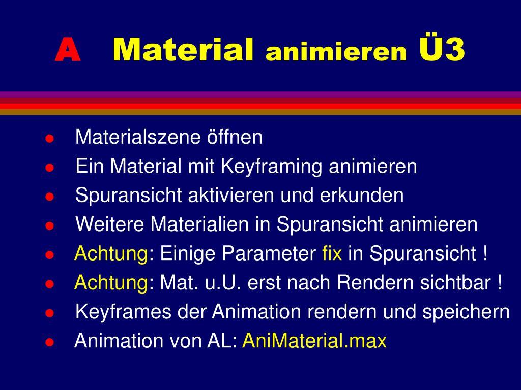 Materialszene öffnen