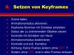 a setzen von keyframes