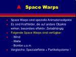 a space warps