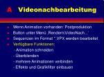 a videonachbearbeitung